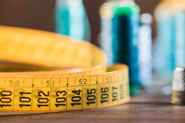 cinta metrica del curso de corte y confeccion